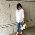【妊娠9ヶ月】春夏の白シャツシンプルマタニティコーデ
